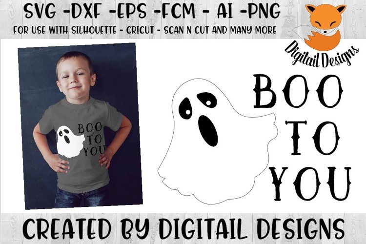 Ghost SVG for Silhouette, Cricut, Scan N Cut example image 1