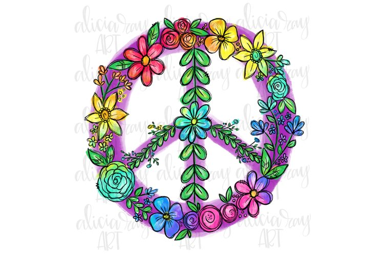 Peace Sign Sublimation PNG Digital Download example image 1