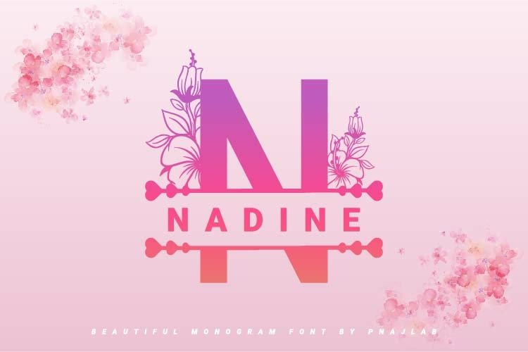 Nadine Flowers Monogram Font