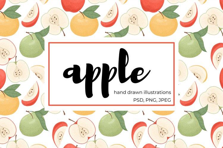 Apple hand drawn clip art example image 1