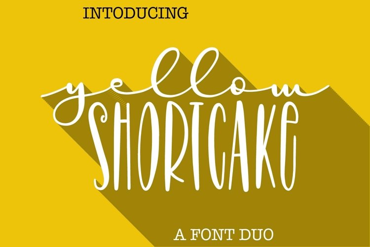 Yellow Shortcake - A Script & Print Font Pair example image 1