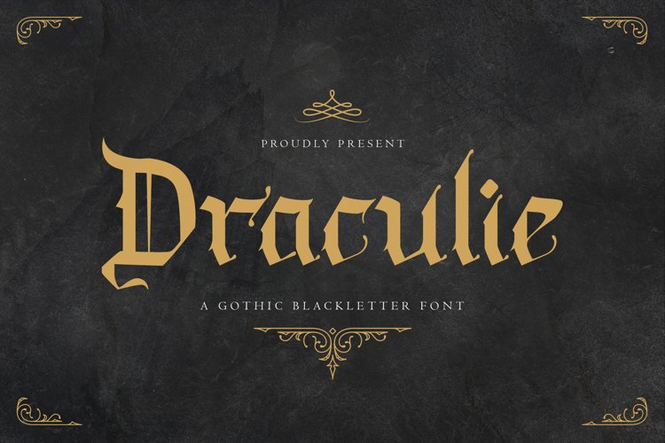 Draculie - Ghothic Blackletter Font example image 1