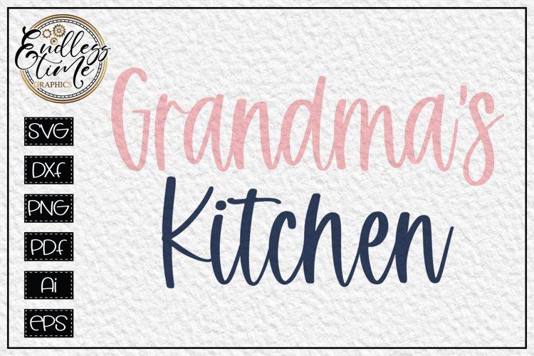 Grandma's Kitchen SVG - A Kitchen Sign SVG Design example image 1