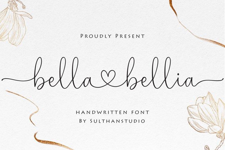 Bella bellia-Handwritten script font