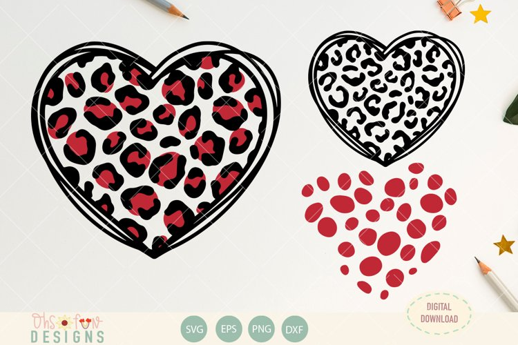 SVG Heart animal print |subway art | Mothers Day | wedding