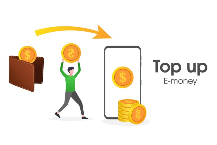 Illustration of a user top-up e-money example image 1