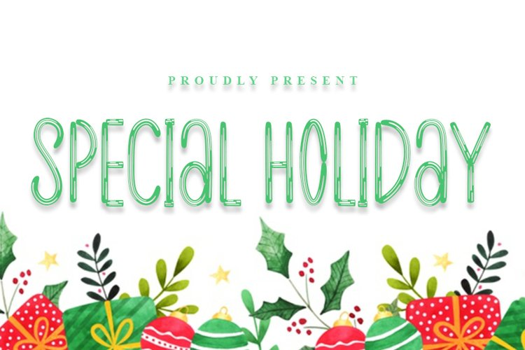 Special Holiday | A Modern Brush Font example image 1