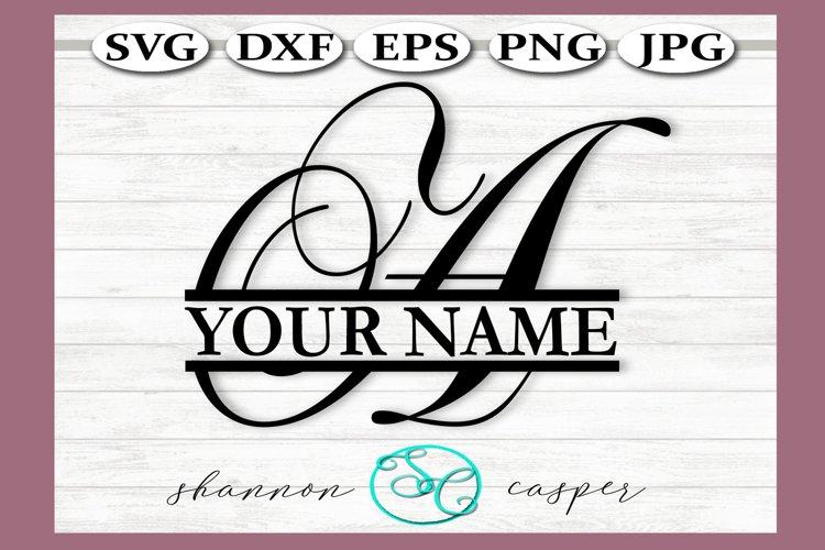 SVG Split Monogram Letter A Single Letter File example image 1