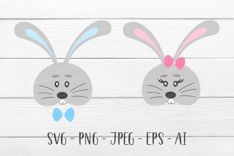 Easter Bunny SVG Faces. Egg hunt Easter shirt. Cut files.