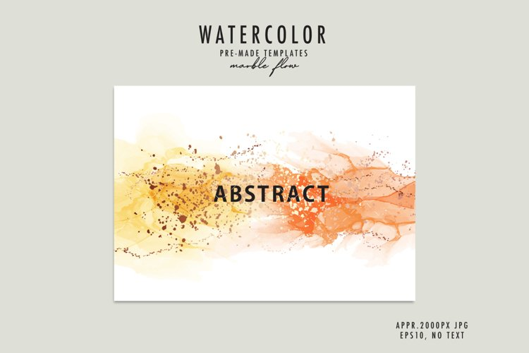 Watercolor marble liquid yellow gold alcohol ink abstract example image 1