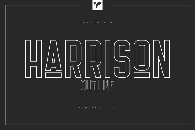 Harrison - Outline Font example image 1