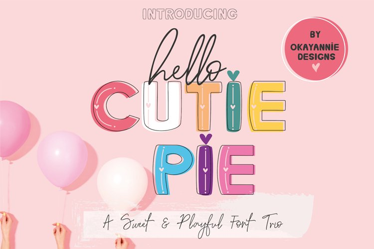 Hello Cutie Pie Font Collection example image 1
