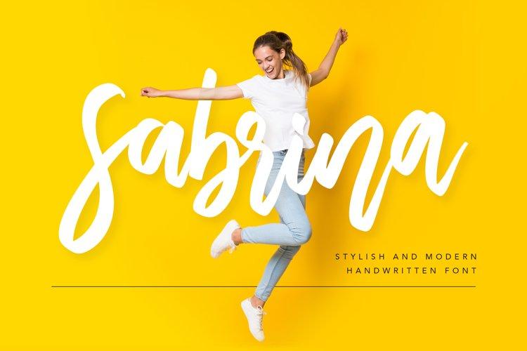 Sabrina Handwritten Font example image 1