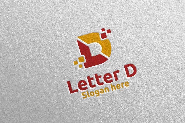 Digital Letter D Logo Design 11 example image 1