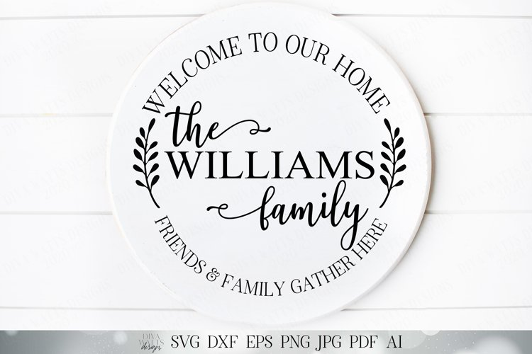 Farmhouse Monogram Wreath - Welcome To Our Home example image 1
