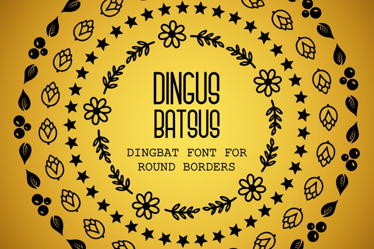 Dingus Batsus, a dingbat font for making borders example image 1