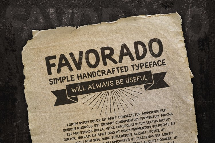 Favorado typeface example image 1