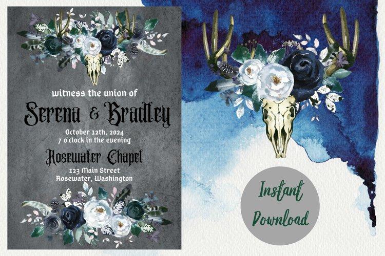 Gothic Dark Wedding Invitation example image 1