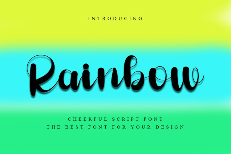 Rainbow - Cheerful Script Font example image 1