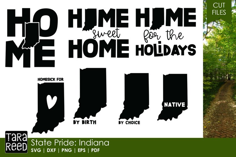 State of Indiana - SVG and Cut Files for Crafters example image 1