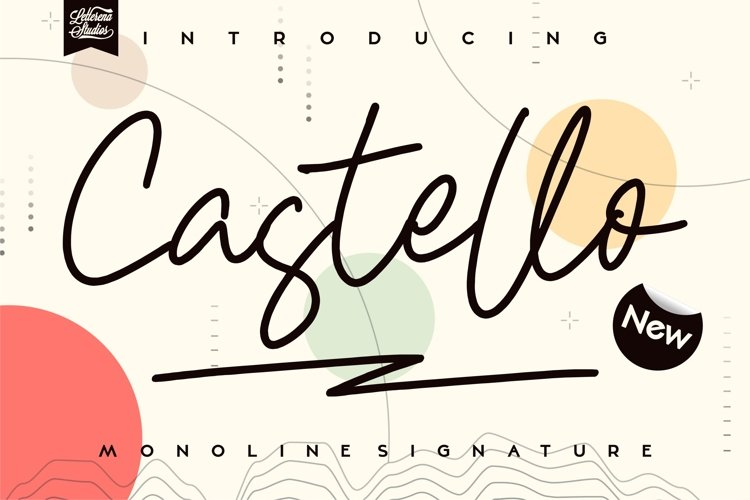 Castello - Modern Monoline Font example image 1