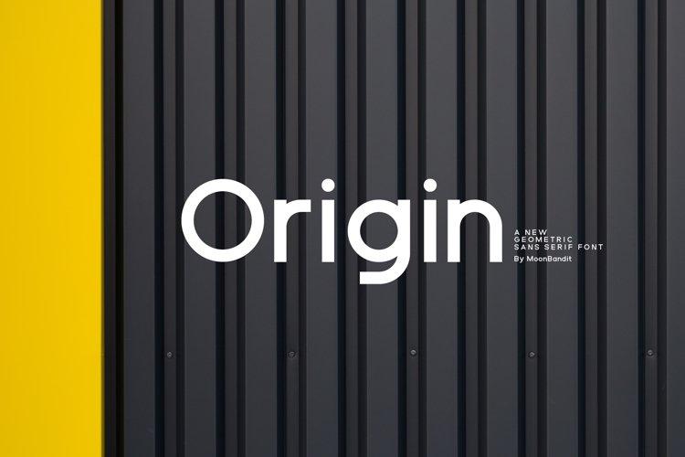 ORIGIN - Modern geometric sans serif example image 1