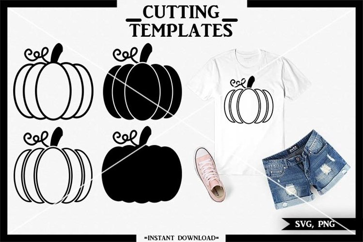 Halloween Pumpkin SVG, Pumpkin, Silhouette, Cricut, Cameo example image 1