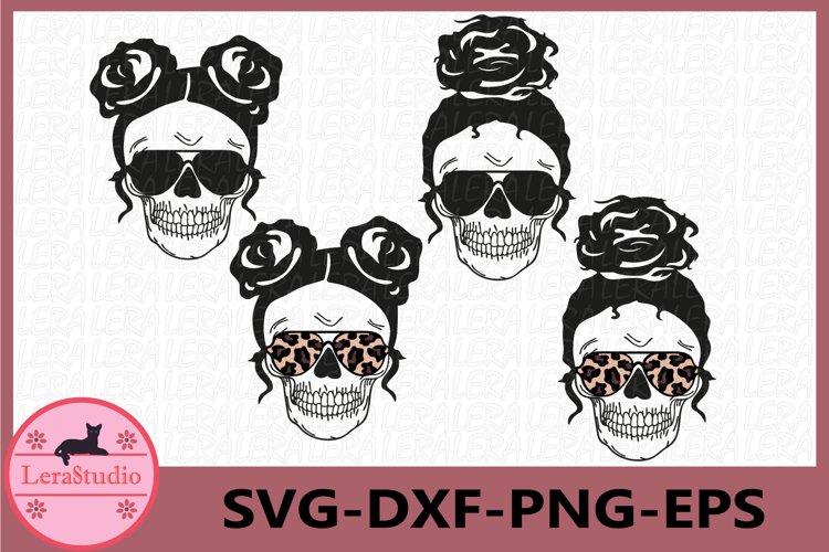 Skull svg, Mom life Svg, Skeleton with glasses svg example image 1