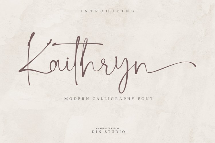 Kaithryn-Modern Calligraphy Font example image 1