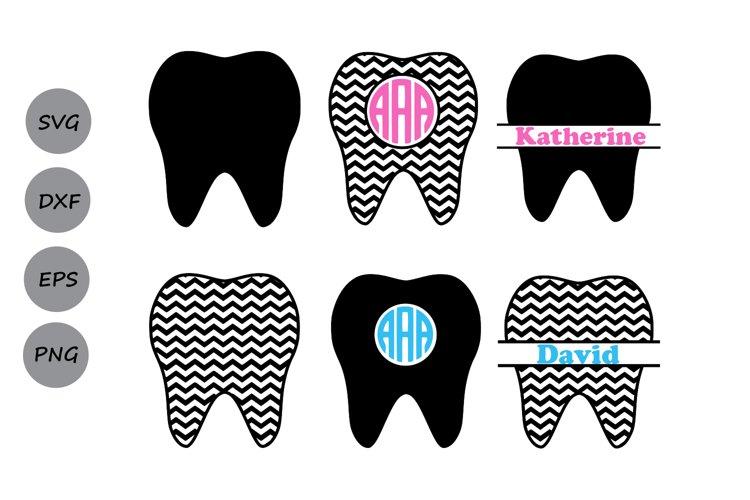 Tooth SVG, Tooth Monogram SVG, Teeth SVG, Dentist Tooth Svg.