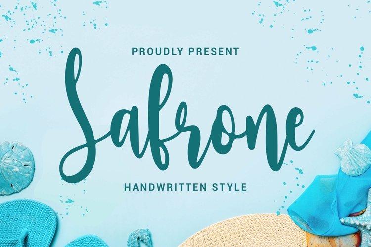 Web Font Safrone - Script Font example image 1