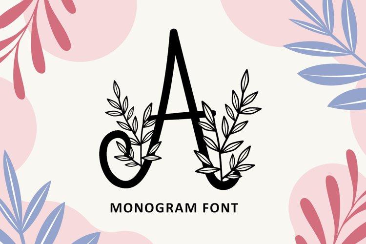 Foliage Monogram Font
