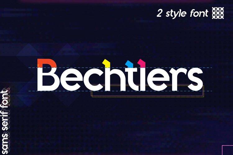 Bechtlers Sans Serif example