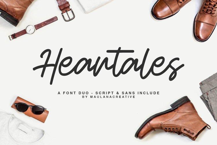Heartales - Font Duo Script Sans example image 1