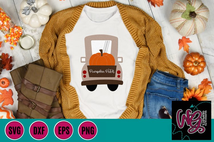 Pumpkin Patch Whimsy Truck SVG, DXF, PNG, EPS