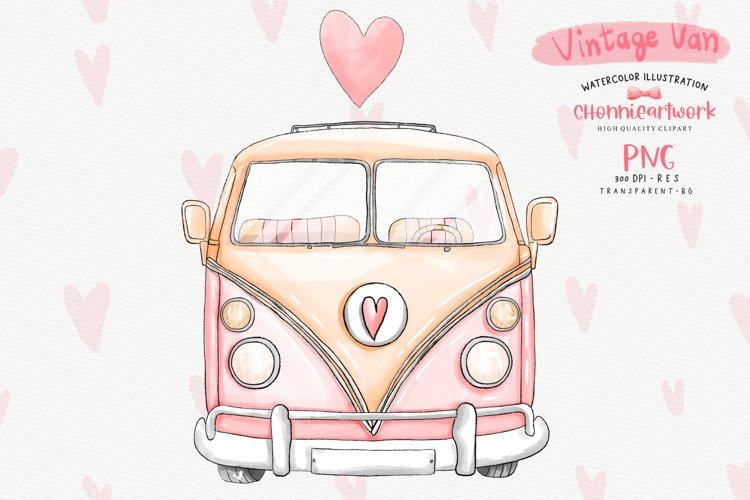 Download Watercolor Pink Vintage Van Sublimation 1161252 Illustrations Design Bundles