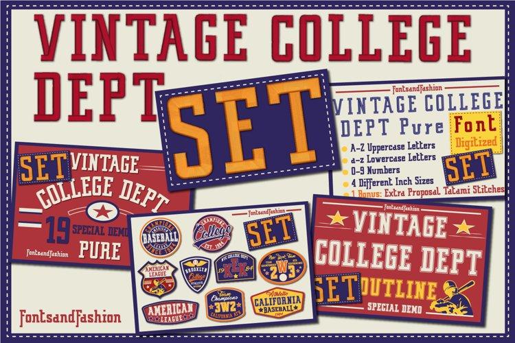 Vintage College Dept_Set example image 1