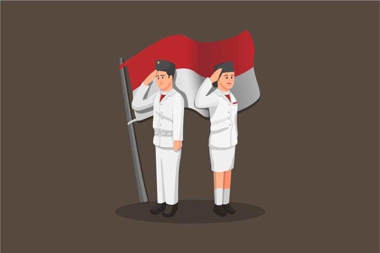 The Paskibraka flag raiser couple indonesian independence example image 1