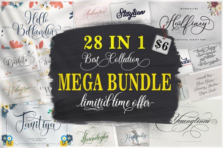 MEGA BUNDLE - 28 Best Collection Font example image 1