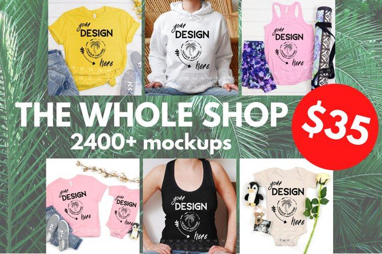 Whole Shop Mockup Bundle - Bella Canvas, Gildan, Next Level