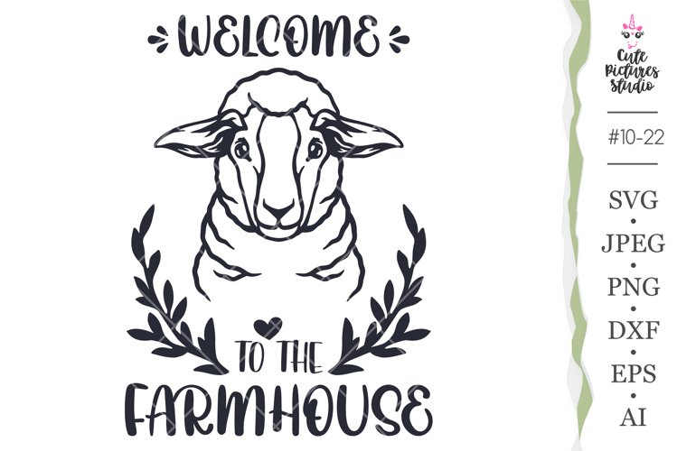 Welcome Farmhouse sign svg, Farm Animal SVG, Sheep svg files