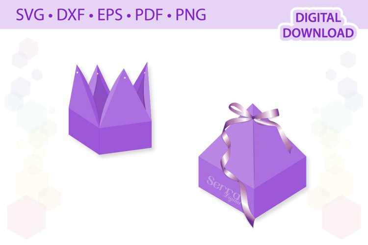 Pyramid Favor Box template .svg .dxf .eps .pdf .png