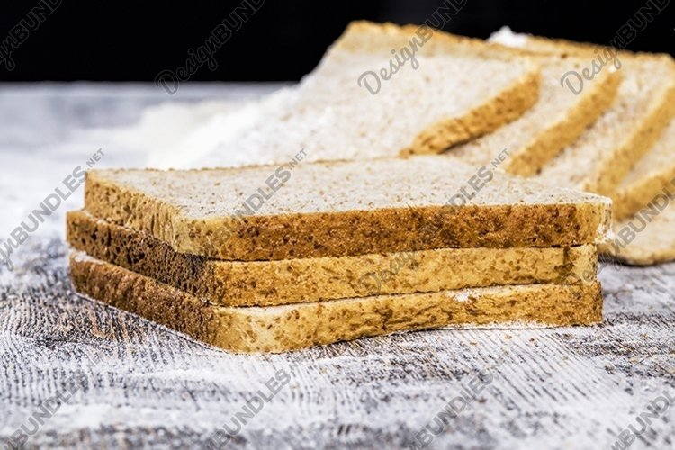 fresh delicious soft bread and white flour example image 1