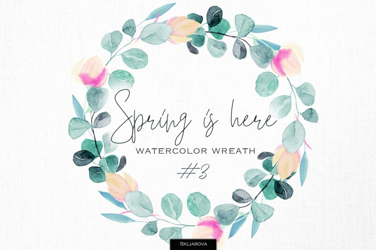Spring is here. Floral wreath #3 example image 1