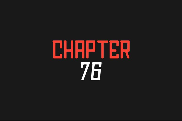 Chapter76 Sans Font example image 1