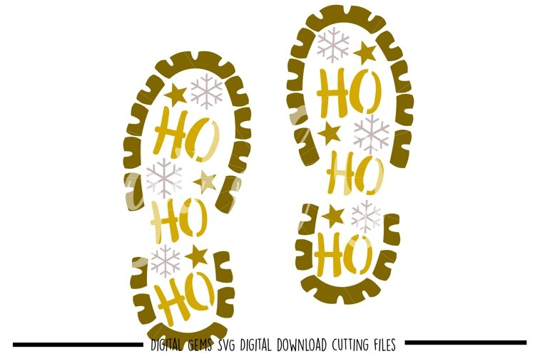 Santa foot print SVG / PNG / EPS / DXF files example image 1