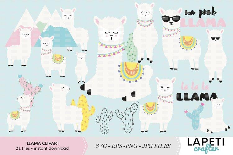 Llamas clipart set example image 1
