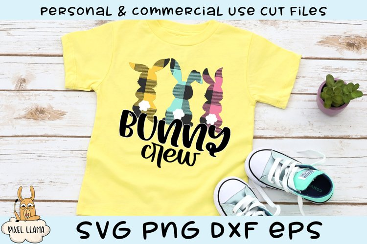 Bunny Crew Plaid Easter SVG