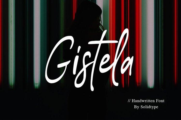 Gistela | Handwritten Font example image 1