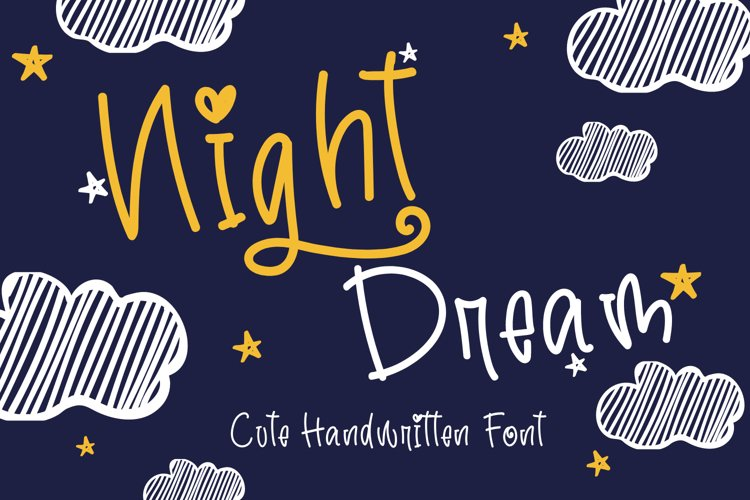 Night Dream-Cute Handwritten Font example image 1